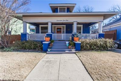 Fort Worth Single Family Home Active Option Contract: 1705 College Avenue