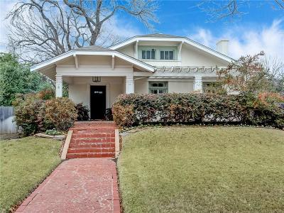 Fort Worth Single Family Home For Sale: 1916 Hillcrest Street