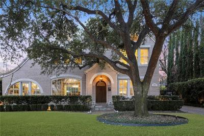 Dallas Single Family Home For Sale: 4303 Rawlins Street