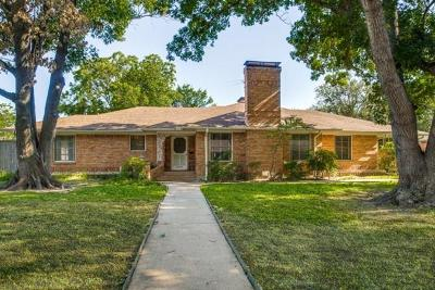 Dallas Single Family Home For Sale: 6014 Meadowcrest Drive