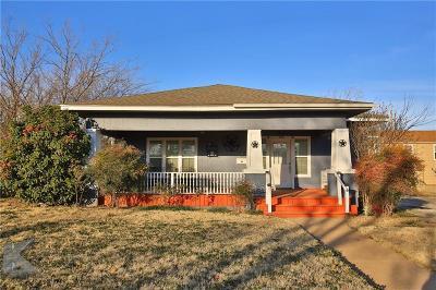 Abilene Single Family Home For Sale: 766 Peach Street