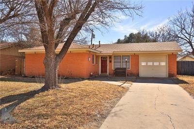 Abilene Single Family Home Active Option Contract: 3157 Edgemont Drive