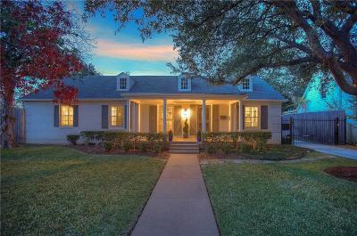 Fort Worth Single Family Home For Sale: 6110 Locke Avenue