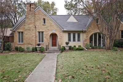 Dallas TX Single Family Home For Sale: $799,900