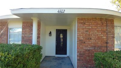 Garland Single Family Home For Sale: 4602 Bridgeport Drive
