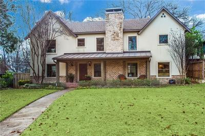 Dallas Single Family Home For Sale: 6850 Avalon