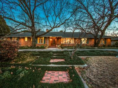 Dallas Single Family Home For Sale: 7014 Midbury Drive
