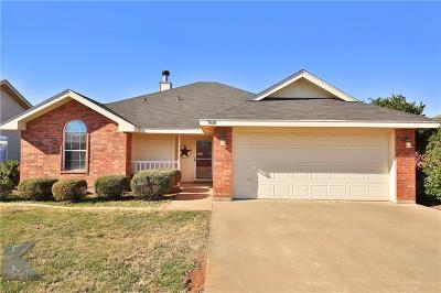 Abilene Single Family Home For Sale: 7610 Patricia Lane