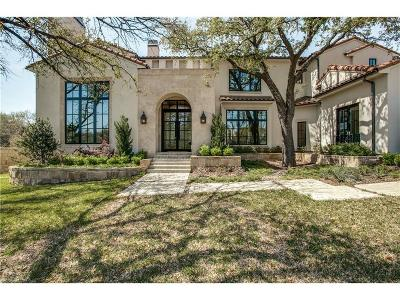 Dallas TX Single Family Home For Sale: $1,849,000