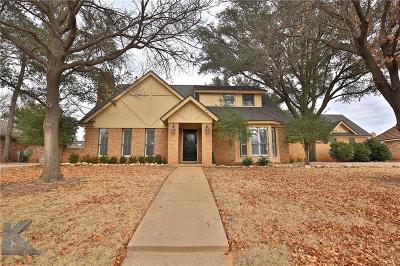 Abilene Single Family Home For Sale: 13 Fairway Oaks Boulevard