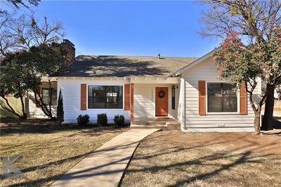 Abilene Single Family Home For Sale: 1202 Grand Avenue