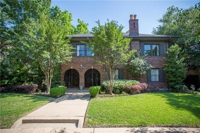 Fort Worth Single Family Home For Sale: 2809 Park Hill Drive