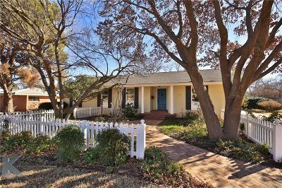 Abilene Single Family Home For Sale: 1817 Sylvan Drive