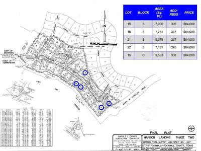 Rockwall, Royse City, Fate, Heath, Mclendon Chisholm Residential Lots & Land For Sale: 308 Harborview Drive