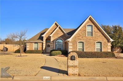 Abilene Single Family Home For Sale: 3534 Silver Oaks Drive