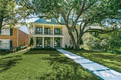 Highland Park Single Family Home For Sale: 3721 Shenandoah