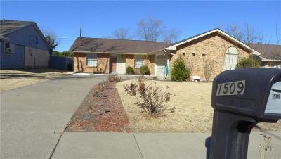 Plano Single Family Home Active Option Contract: 1509 Fairfield Drive
