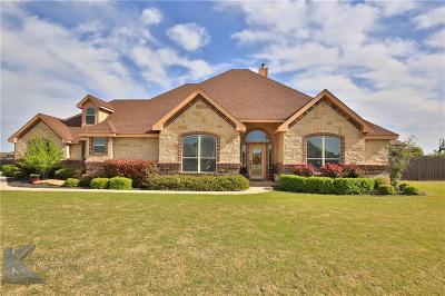 Abilene Single Family Home For Sale: 218 Dove Creek Path