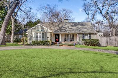 Dallas Single Family Home For Sale: 7427 Malabar Lane