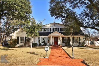 Abilene Single Family Home For Sale: 3450 Ward Drive