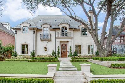 Highland Park Single Family Home For Sale: 3421 Princeton