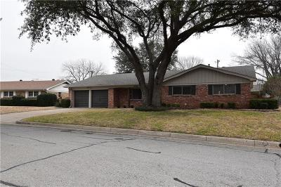 North Richland Hills Single Family Home Active Option Contract: 4920 Vance Road