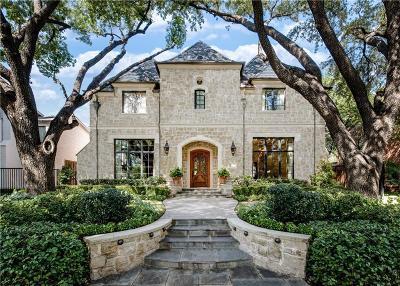 Highland Park, University Park Single Family Home For Sale: 4552 Rheims Place