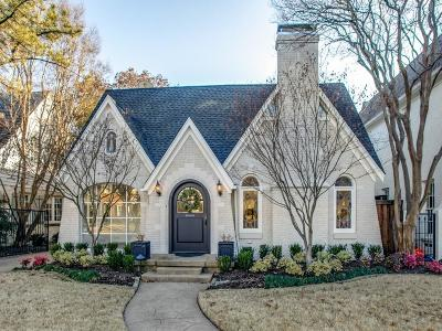 University Park TX Single Family Home For Sale: $1,495,000