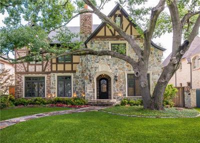 Highland Park, University Park Single Family Home For Sale: 3508 Villanova Street