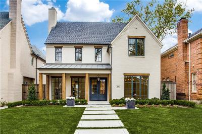 Dallas, Highland Park, University Park Single Family Home For Sale: 3816 Purdue Avenue