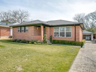 Dallas Single Family Home For Sale: 10534 Coleridge Street