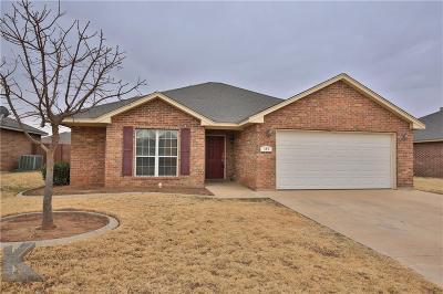Abilene Single Family Home For Sale: 333 Sugarloaf Avenue