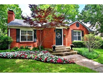 Dallas Single Family Home Active Option Contract: 5503 Bryn Mawr Drive
