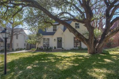 Dallas, Fort Worth Single Family Home Active Contingent: 3817 Potomac Avenue