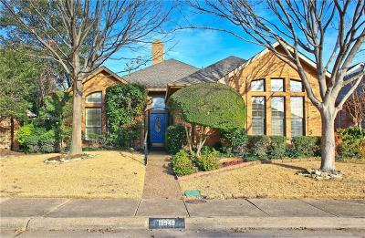 Dallas Single Family Home Active Option Contract: 18948 Misthaven Place