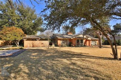 Abilene Single Family Home For Sale: 1467 Tanglewood Road