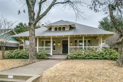 Dallas Single Family Home For Sale: 712 Lowell Street