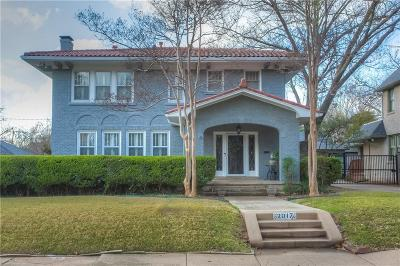 Fort Worth Single Family Home For Sale: 2017 Windsor Place