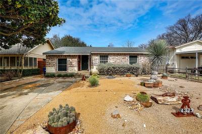 Dallas, Fort Worth Single Family Home For Sale: 4323 Bonham Street