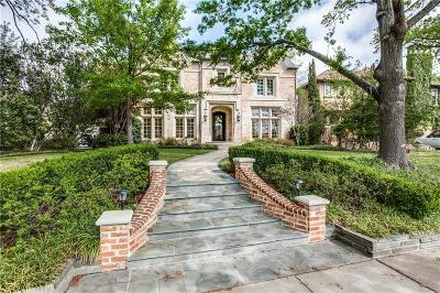 Dallas, Highland Park, University Park Single Family Home For Sale: 4004 Colgate Avenue