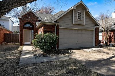 Lewisville Single Family Home Active Option Contract: 2082 Stillwater Place