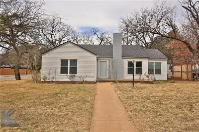 Abilene Single Family Home For Sale: 1166 Albany Street