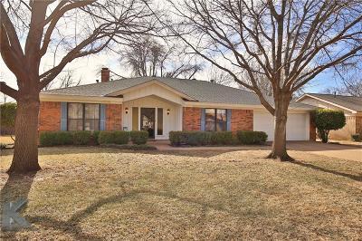 Abilene Single Family Home Active Option Contract: 3710 Santa Monica Drive