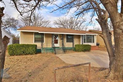 Abilene Single Family Home Active Option Contract: 2234 Grand Avenue
