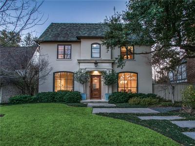 University Park Single Family Home For Sale: 4209 Shenandoah Street