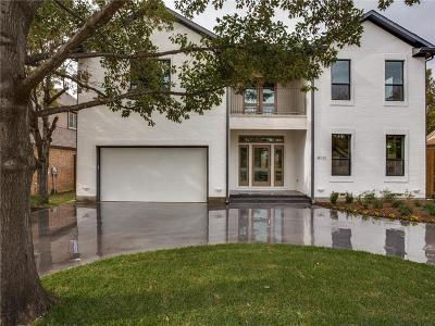 Dallas Single Family Home For Sale: 4111 Saranac Drive
