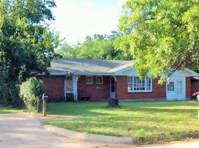 Abilene Single Family Home Active Option Contract: 633 E North 18th Street