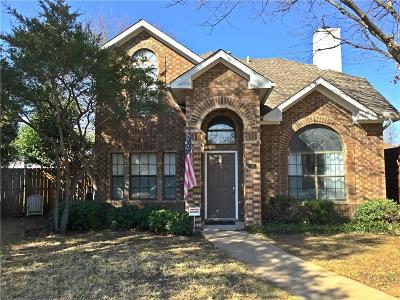 Coppell Single Family Home Active Option Contract: 510 Leisure Court