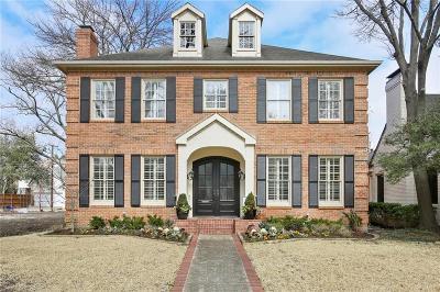 Highland Park, University Park Single Family Home For Sale: 3812 Purdue Avenue