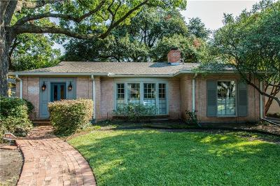 Highland Park, University Park Single Family Home Active Option Contract: 4629 Belclaire Avenue